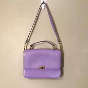 J. Crew | Purple Leather Crossbody Edie Bag